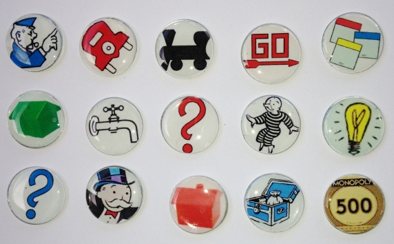 Customized Monopoly Themed Ball Markers