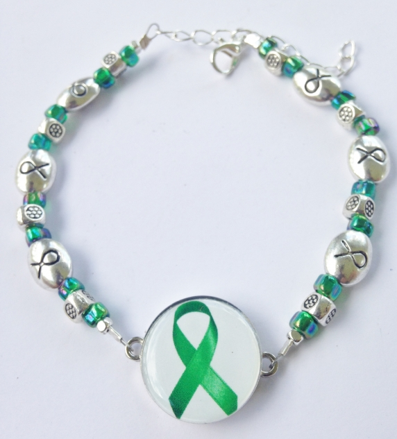 Organ Donation or Kidney Disease Ribbon Ankle Bracelet