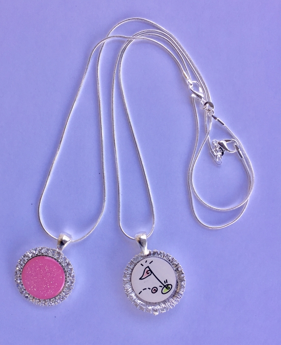 """Bling"" Ball Marker Necklace w/extra marker"
