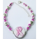Breast Cancer Awareness Ball Marker Ankle Bracelet