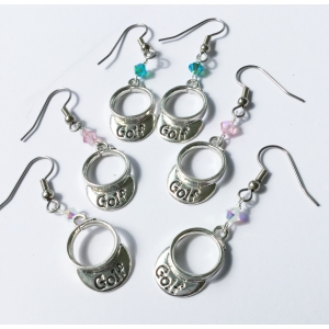 Golf Visor Earrings