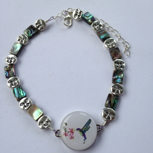 Abalone and Sunshine Ball Marker  Ankle Bracelet by One Putt Designs