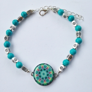 One Putt Designs Turquoise Beaded Ball Marker Ankle Bracelet